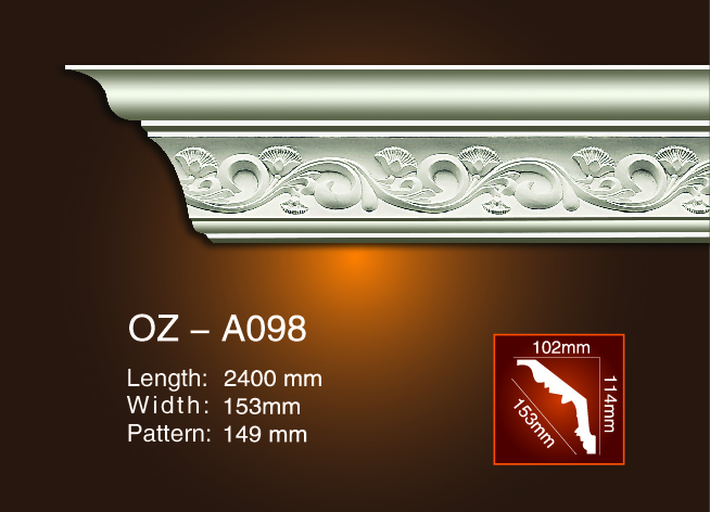 Carving Cornice Moulding OZ-A098 Featured Image