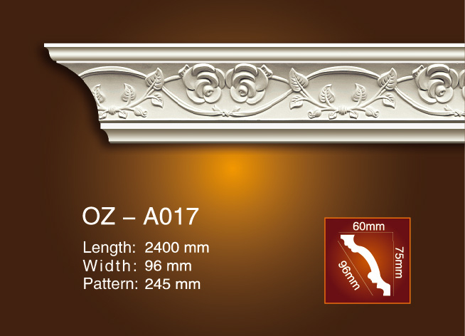 Good Quality 4 Inch Crown Molding - Carving Cornice Moulding OZ-A017 – Ouzhi