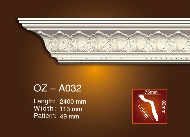 Chinese wholesale Polyurethane Ceiling Cornice For Sales - Carving Cornice Moulding OZ-A032 – Ouzhi