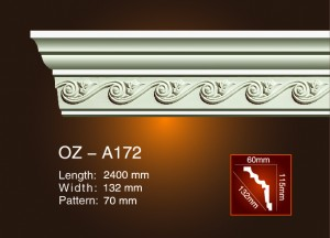 Original Factory Chinese Factory's Price Light Trough -<br />  Carving Cornice Moulding OZ-A172 - Ouzhi