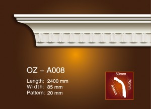 2017 wholesale price Interior Decoration Wall Moulding - Carving Cornice Moulding OZ-A008 – Ouzhi