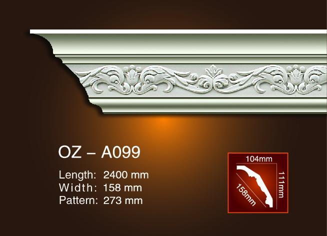 Big Discount Pu Foam Crown Molding -  Carving Cornice Moulding OZ-A099 – Ouzhi