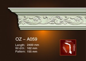 China Gold Supplier for Cheapest Roman Pillars Concrete Mold For Sale -  Carving Cornice Moulding OZ-A059 – Ouzhi