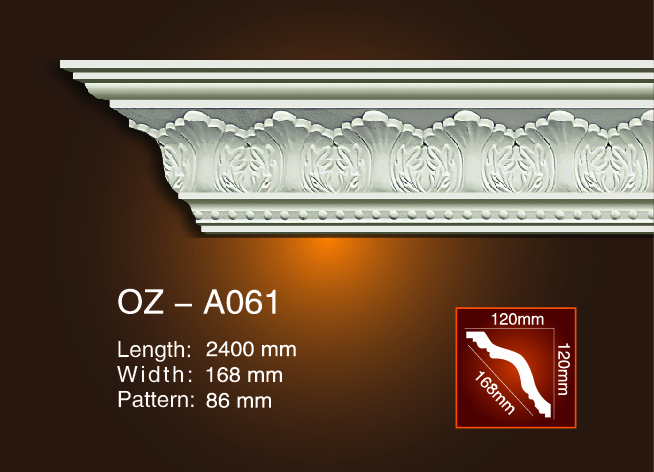 Wholesale Dealers of Luxury Pu Fireplace - Carving Cornice Moulding OZ-A061 – Ouzhi