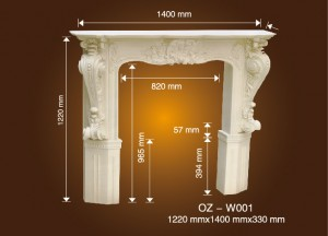 Combination Fireplace Wall Cage OZ-W001