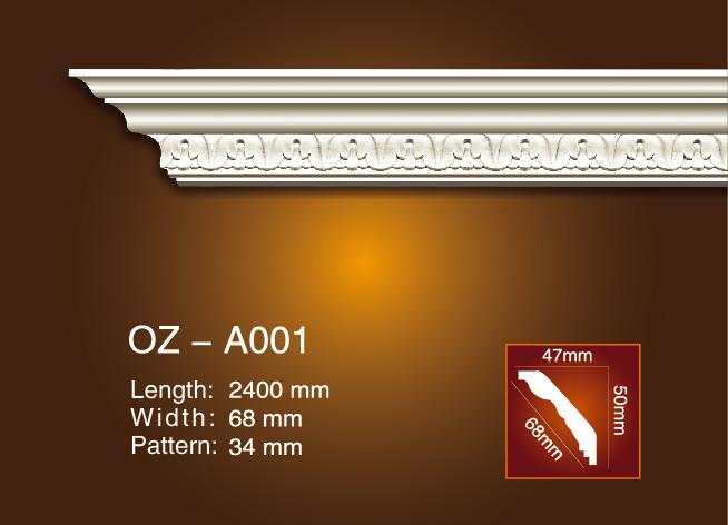 Professional China Pu Cornice Production Line -  Carving Cornice Moulding OZ-A001 – Ouzhi