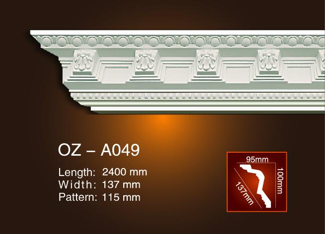 2017 Good Quality Classical Glassfiber Gypsum Light Trough Design - Carving Cornice Moulding OZ-A049 – Ouzhi